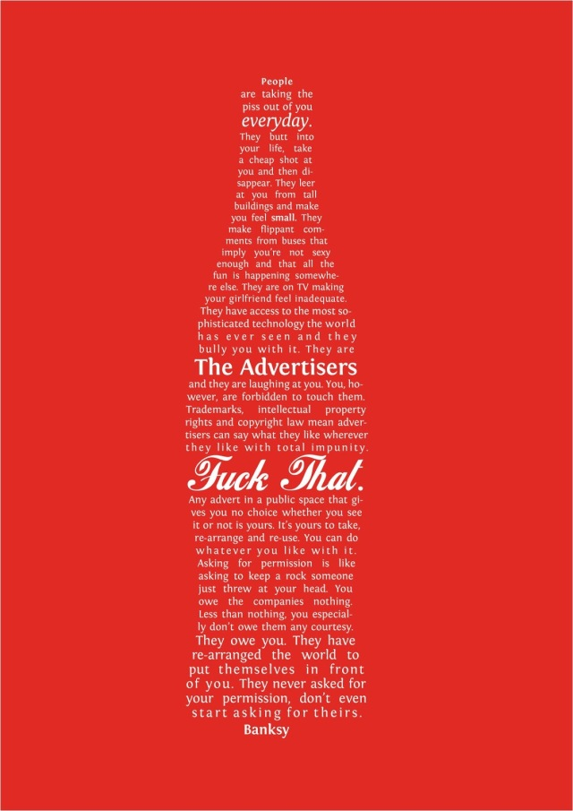 Banksy Bottle manifesto
