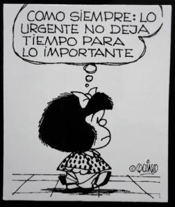 Urgente x Importante - Mafalda, Quino