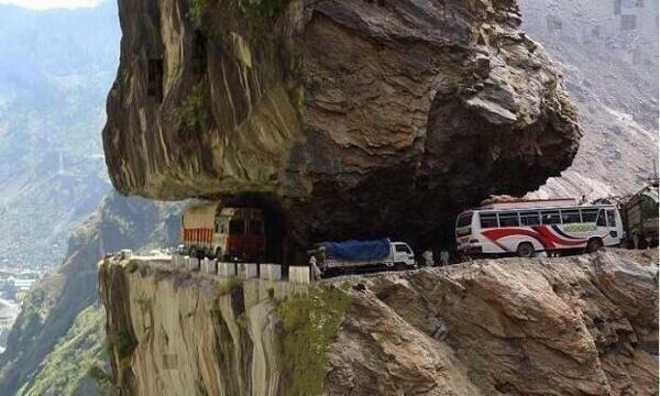 Estrada Himachal Pradesh, na Índia